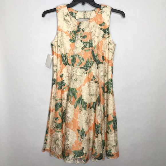 New Gabby Skye Lace Floral Dress Nwt